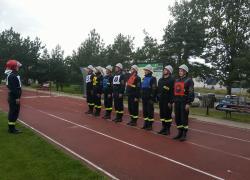 Drugie miejsce na powiatowych zawodach sportowo-pożarniczych - 15.09.2019