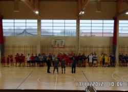 Powiatowe zawody w halową piłkę nożną drużyn OSP. - 17.11.2012