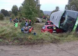 Wojewódzkie ćwiczenia jednostek Państwowej Straży Pożarnej na terenie gminy Gniewino