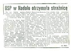 Artykuł z 1984 roku o otwarciu nowej remizy
