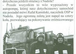 Nowy wóz strażacki dla OSP Nadole