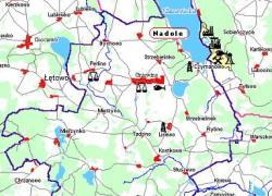 Nadole na mapie Gminy Gniewino