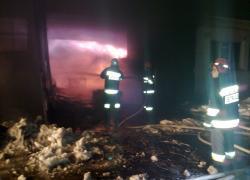 Pożar hali produkcyjnej w Choczewie
