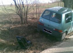 Wypadek samochodowy na trasie Bychowo-Prusewo