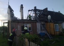 Tragiczny pożar budynku mieszkalnego w Gniewinie