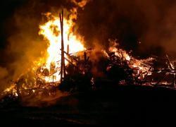 Pożar stodoły w Tadzinie