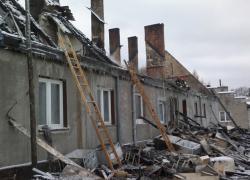Pożar domu w Ciekocinku - 08.02.2012
