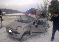Wypadek samochodowy w Rybnie