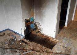 Pożar mieszkania w Salinie