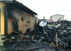 Pożar drewutni w Chynowiu