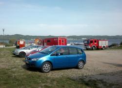 Utonięcie na jeziorze Żarnowieckim. - 30.08.2012