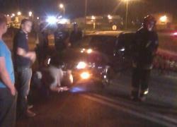 Wypadek samochodowy w Czymanowie