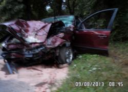 Wypadek samochodowy na trasie Czymanowo - Opalino