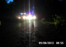 Wypadek samochodowy na trasie Czymanowo - Opalino - 9.08.2013