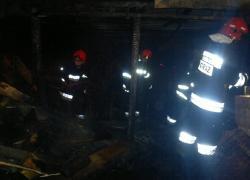 Pożar baraku w Nadolu