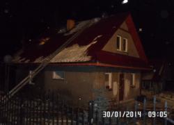 Pożar budynku mieszkalnego w Gniewinie