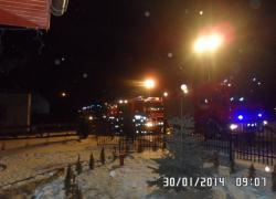 Pożar budynku mieszkalnego w Gniewinie - 30.01.2014