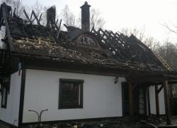 Pożar domu w Perlinie