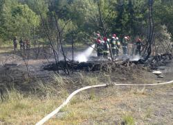 Pożar leśniczówki w Kostkowie