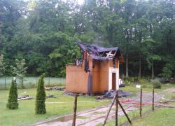 Pożar domu w Tadzinie