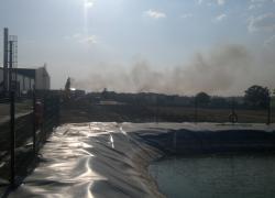 Pożar zboża w miejscowości Kurowo - 03.08.2014