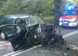 Wypadek na trasie Opalino-Rybno