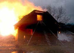 Pożar domu w Salinku