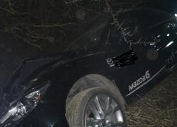 Wypadek samochodowy w Brzynie