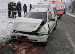 Wypadek samochodowy na trasie Gniewino - Strzebielinek