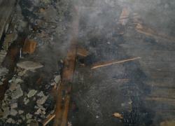 Pożar pustostanu w Rybnie