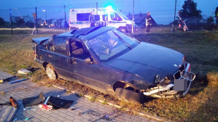 Wypadek samochodowy w Gniewinie