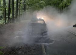 Pożar samochodu na trasie Czymanowo – Gniewino
