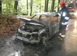 Pożar samochodu na trasie Czymanowo – Gniewino - 07.09.2015