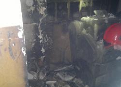 Pożar pomieszczenia garażowego w Gniewinie