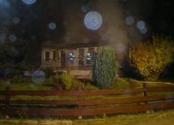 Pożar domku letniskowego w Nadolu