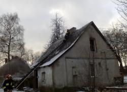 Pożar domu w Toliszczku