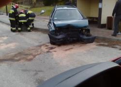 Wypadek samochodowy w Nadolu