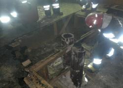 Pożar poddasza w Nadolu