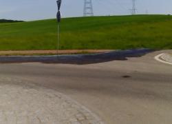 Zagrożenie na trasie Strzebielinek - Rybno