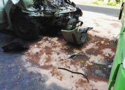 Wypadek samochodowy w Rybienku