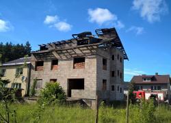 Pożar pustostanu w Kostkowie