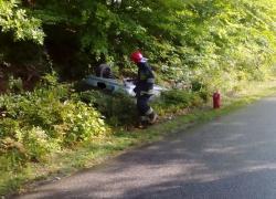 Wypadek samochodowy na trasie Tyłowo - Wielka Piaśnica