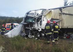 Wypadek samochodowy w Kartoszynie