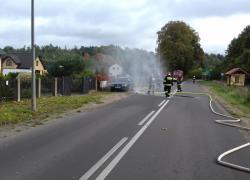Uszkodzony gazociąg w Rybnie