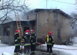 Pożar budynku mieszkalnego w Kostkowie