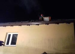 Pożar sadzy w kominie w Nadolu