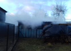 Pożar pomieszczenia gospodarczego w Lisewie