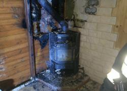 Pożar budynku mieszkalnego w Nadolu