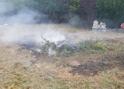 Zadymienie w okolicach Osiedla na Stoku w Nadolu - 17.08.2019