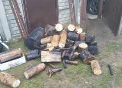Pożar drewna w garażu w Gniewinie